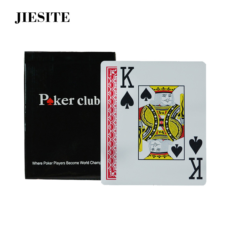 100% Plastic PVC Playing Card Game Poker Cards Waterproof And Dull Polish Poker Club Casino Board Games Poker Club Accessories