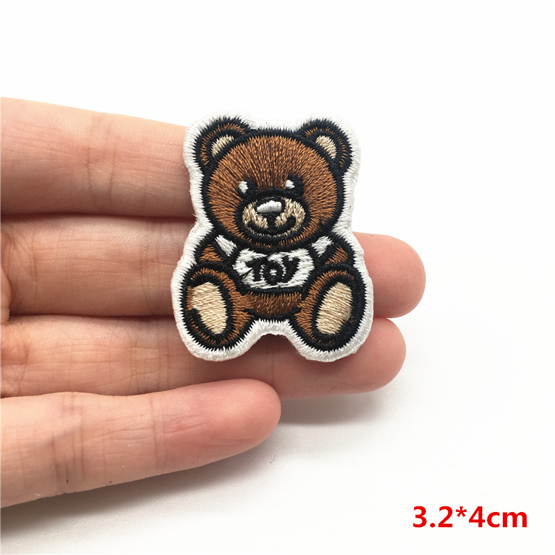 1Pcs Cute Animals Patches Cat Dog Llama Batman Decorative Embroidery Patch Iron On Sewing Stickers On Clothes Kids Applique in Patches from Home Garden