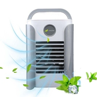 Portable Mini Air Cooler Fan with Bluetooth Speaker Air Conditioner Fan Personal Space Cooler Air Cooling Fan for Home Office De