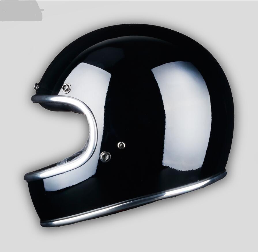 Новый Стекловолокно Полный мотоциклетный шлем Ретро классический винтажный шлем, Чоппер, кафе гонщик, крейсер, уличный велосипед, DOT утверж...
