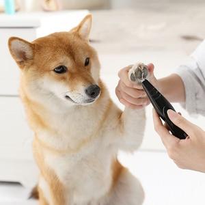 Cortadora eléctrica de pelo para mascotas, amoladora para gatos, herramienta de arreglo de perros, cortadora de cizalla, recargable por USB, para perro, corte de pelo, rasuradora de patas