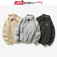 Hoodies Clothing Sweatshirts Pullover Collar Patchwork Harajuku Lappster-Youth Autumn
