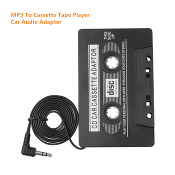 Car Universal Audio Cassette Tape Adapter For iPod MP3 CD DVD Player Automatic Conversion Music Format Smartphone AUX Changer image