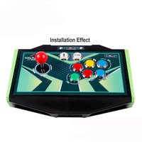 2 Player Arcade Control Joysticks LED Illuminated Buttons DIY Parts For MAME With LED Arcade Buttons+ 2 Joysticks+2 USB Encoder