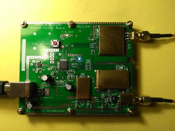 Simple Frequency Spectrum D6 V2.03B ADF4351 VFO Source \ Small Hand-made One