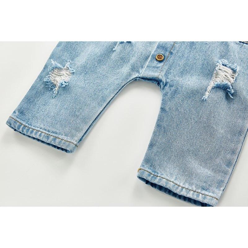 Wiosna jesień nowonarodzone chłopcy dziewczęta kowboj zepsuty otwór kombinezony ubrania dla dzieci chłopcy dziewczęta pajacyki z długim rękawem pajacyki dziecięce