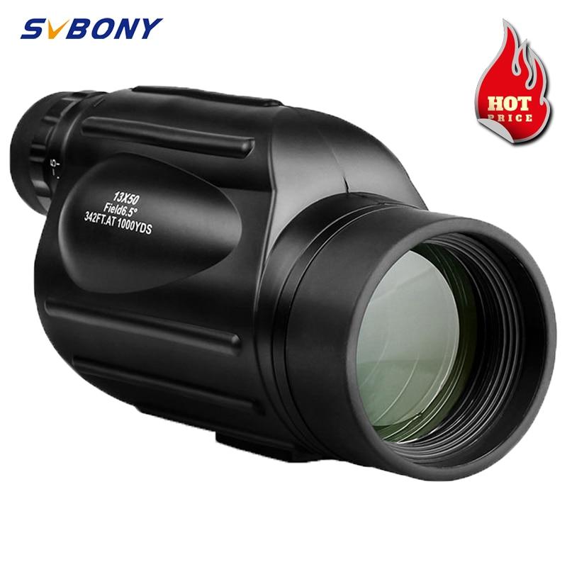 Svbony Монокуляр 13x50 SV49 высокомощный бинокль водонепроницаемый телескоп для прогулок, охоты и кемпинга наблюдения за птицами туризма подзорна...