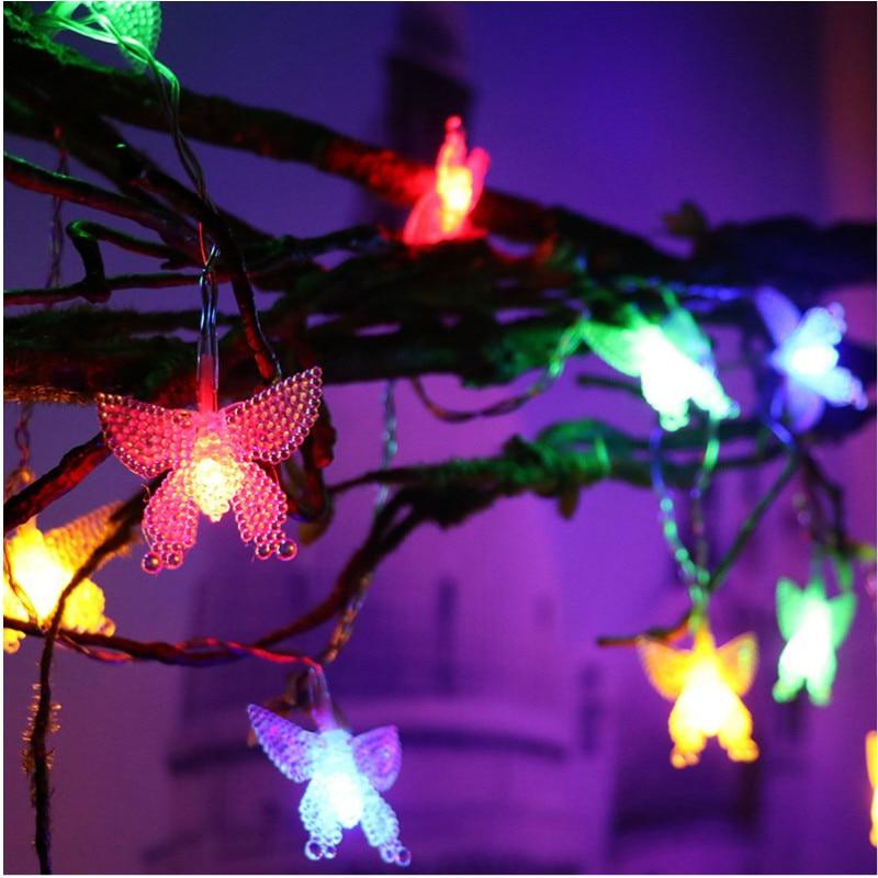 JSEX luzes De Fadas Luzes LED Decoração Corda Iluminação de Natal de Ano Novo Garland Estrela Branca/Bola/Borboleta/Árvore /floco de neve