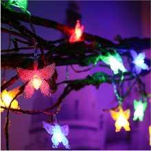 JSEX Fairy lights LED Lights Decoration Lighting String Christmas New Year Garland White Star/Ball/Butterfly/Tree/Snowflake