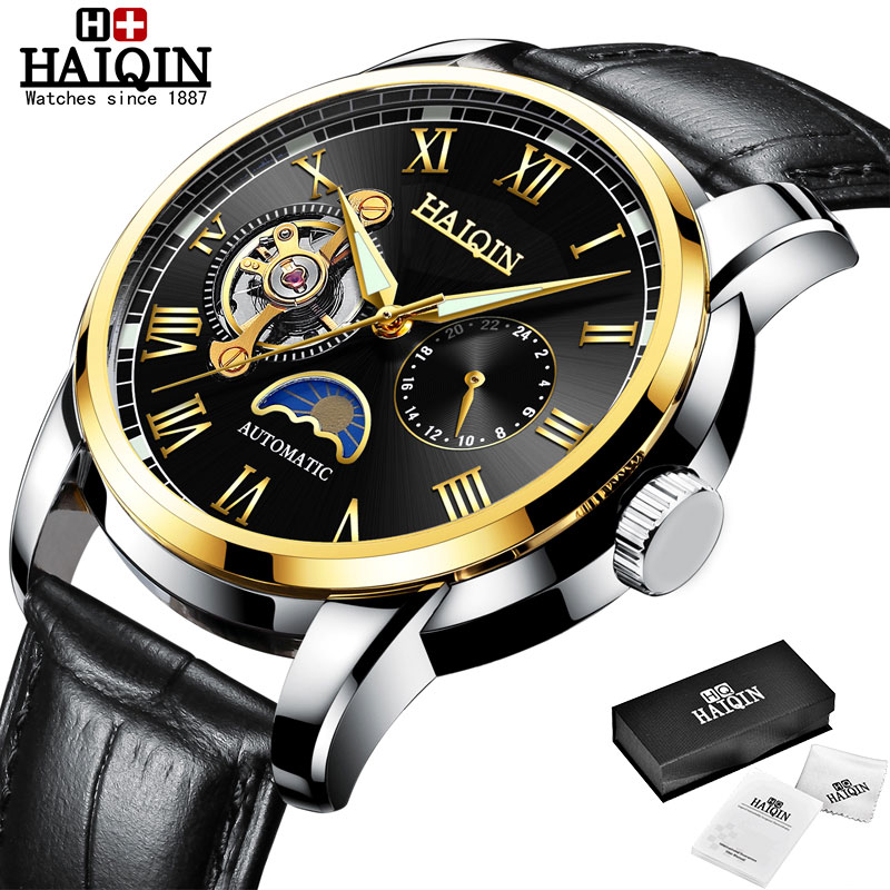 HAIQIN Mechanical watches mens automatic wrist watch for mens watches top brand luxury watch men Tourbillon relojes hombre 2020 11