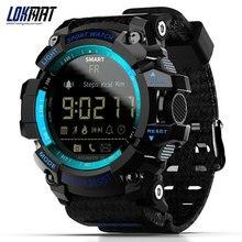 LOKMAT MK16 بلوتوث ساعة ذكية ساعة رقمية عداد الخطى الرياضة ساعة ذكية الرجال IP67 مقاوم للماء للهاتف ios أندرويد