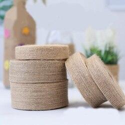 10m 25mm 30mm 38mm naturel Jute toile de Jute ruban pour artisanat bricolage ruban noeud de mariage décoratif cadeau emballage cravate ruban