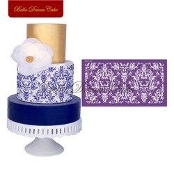 Wzór kwiatowy ciasto wzornik ciasto kremówki formy Sugarcraft tkaniny siatki szablony ślub forma do ciasta ciasto narzędzie dekoracyjne pieczenia