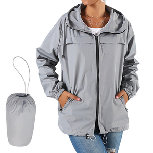 Ladies Hooded Raincoat Solid C