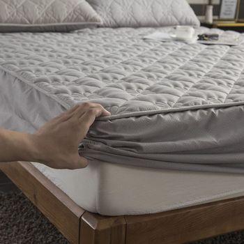 Утолщенный стеганый матрас, наматрасник для двуспальной кровати, простыня с антибактериальным покрытием, Воздухопроницаемый чехол для кро...