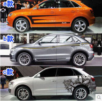 Car Stickers Body Appearance Decoration Modification Sticker Dedicated Lahua Color Strip Film For Q3