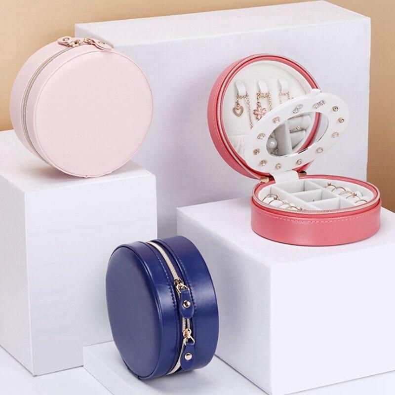 Round Travel Jewelry Box 2
