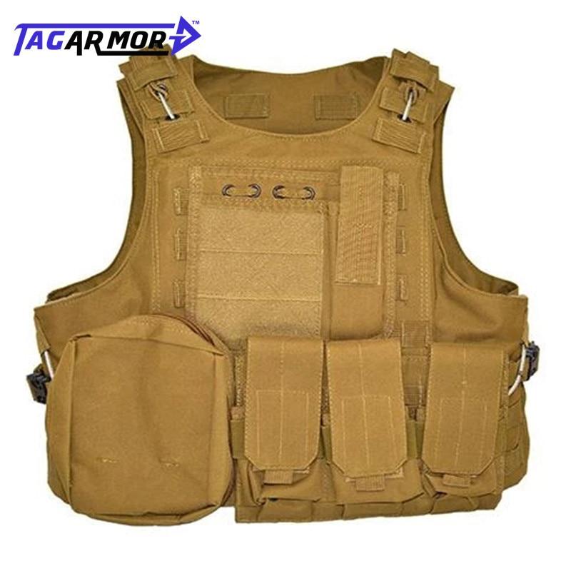 Heavy Duty Detachable Special Forces Military NIJ IIIA 9mm Body Armor Bullet Proof Combat Vest