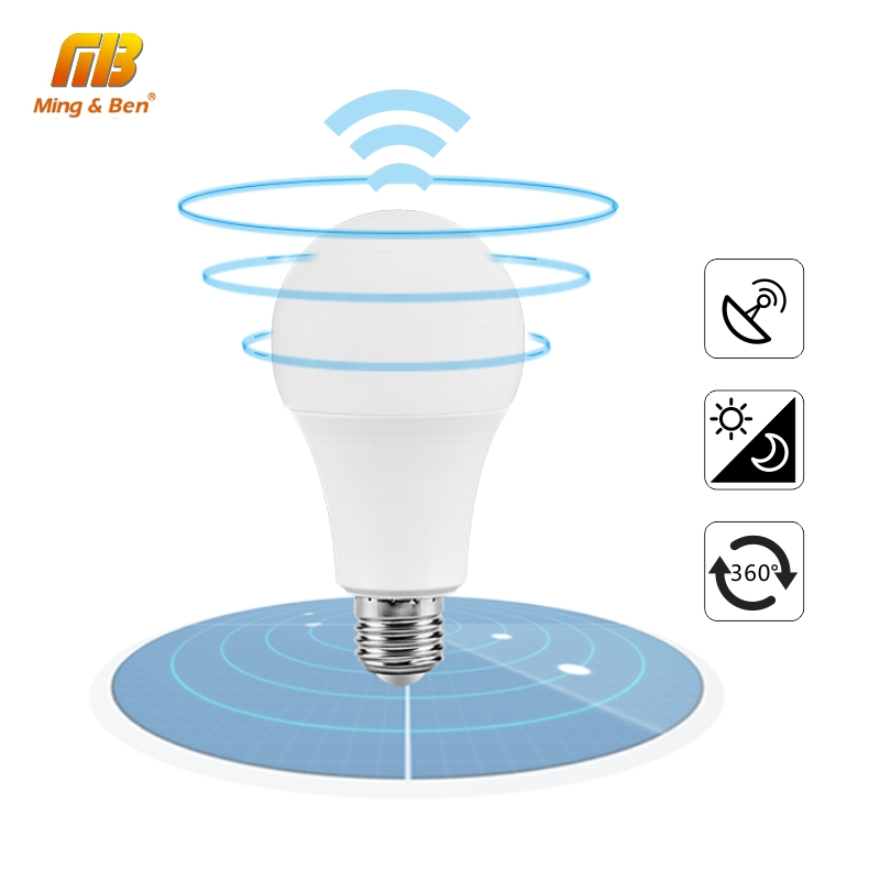 LED Light Bulb Radar Induction Lamp 5W 7W 9W 12W White LED Bulb 110V 220V Corridor Stairs 360degree Induction Lamp Lampada