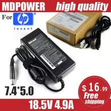 Mdpower para hp 18.5v 4.9a 90w carregador de adaptador ac portátil