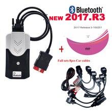Outil de diagnostic pour delphis ds150e, Bluetooth 2021. R3 keygen VD, Obd2, Scanner + 8 câbles pour voiture et camion, nouveauté 2017