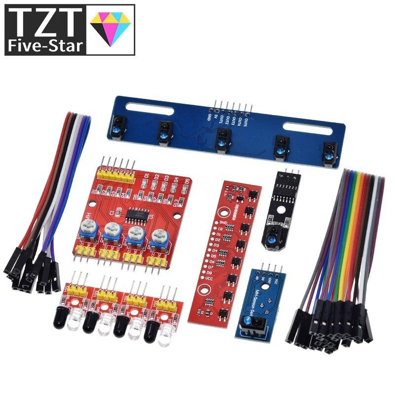 1 4 5 8 canais tcrt5000 ir interruptor fotoelétrico barreira linha módulo pista infravermelho evitar obstáculos sensor para arduino diy