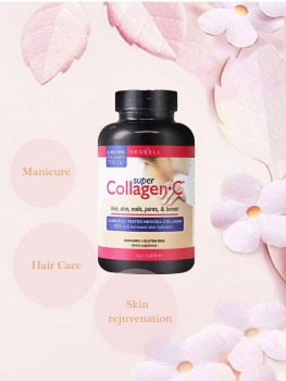 Supplementary Nutrition 250pcs Hydrolyzed Collagen+C Hair Skin Nails Joints Bones Care55