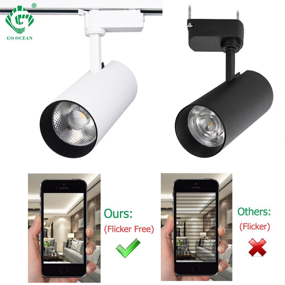 30W reflektor szynowy COB oświetlenie szynowe led reflektor Showroom sklep odzieżowy wystawa szyna oświetleniowa System aluminiowa lampa punktowa