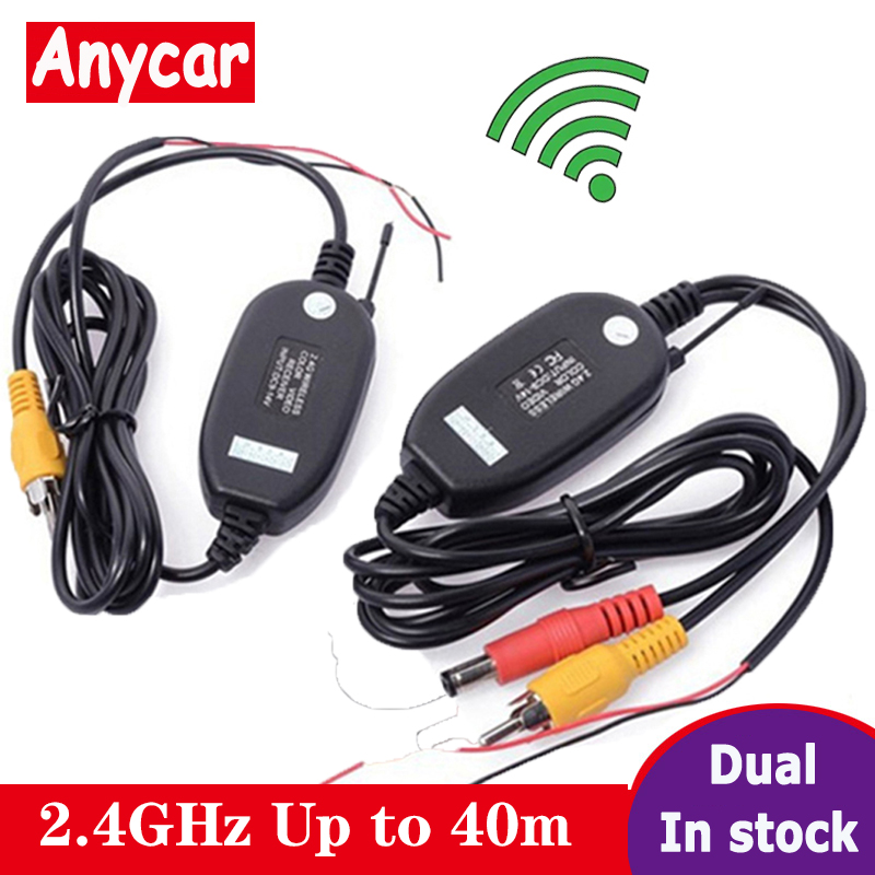 2020 2.4 Ghz Wireless Rear View Camera RCA Video Transmitter & Receiver Kit for Car Rearview Monitor FM Transmitter & Receiver image