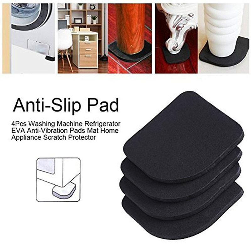 4Pcs Washing Machine Anti Vibration Pad Refrigerator Mute Shock Mat Floor Furniture Protectors Washing Machine Accessories