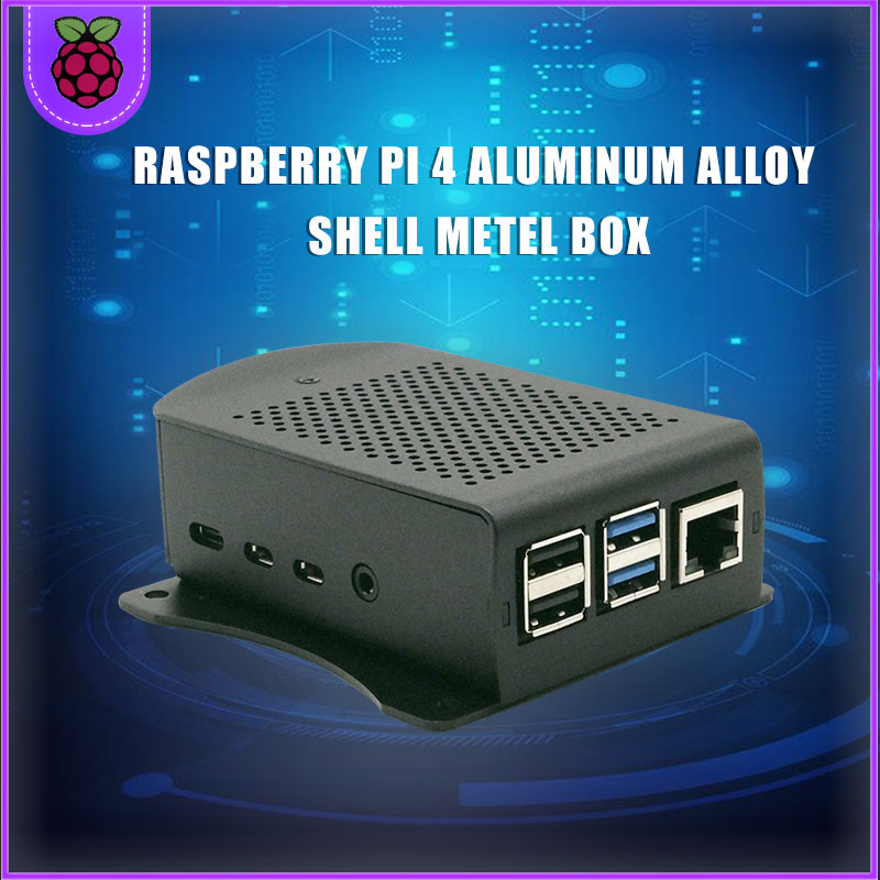 Raspberry Pi 4 Aluminum Alloy Case Metel Box With Hanging Bracket Support Cooling Fan Screwdriver For Raspberry Pi 4 Model B