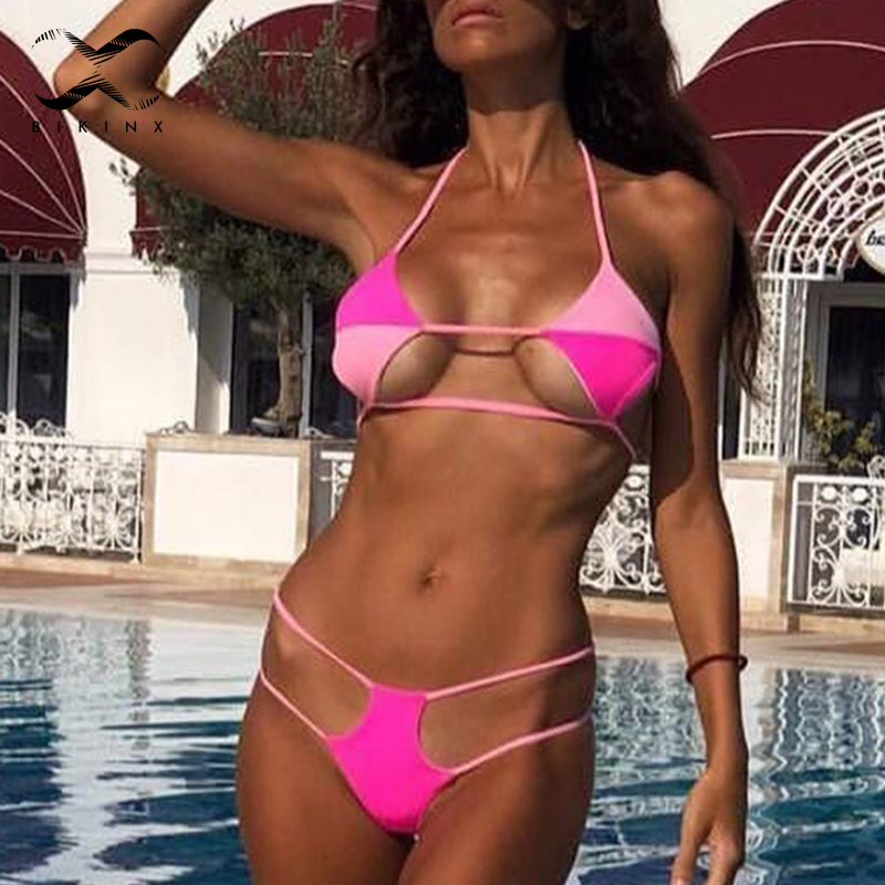 Sexy Square Patchwork Bikini 2019 Push Up Bathing Suit Hollow Out Swimwear Women Micro Swimsuit Female Two-piece Suit Biquini