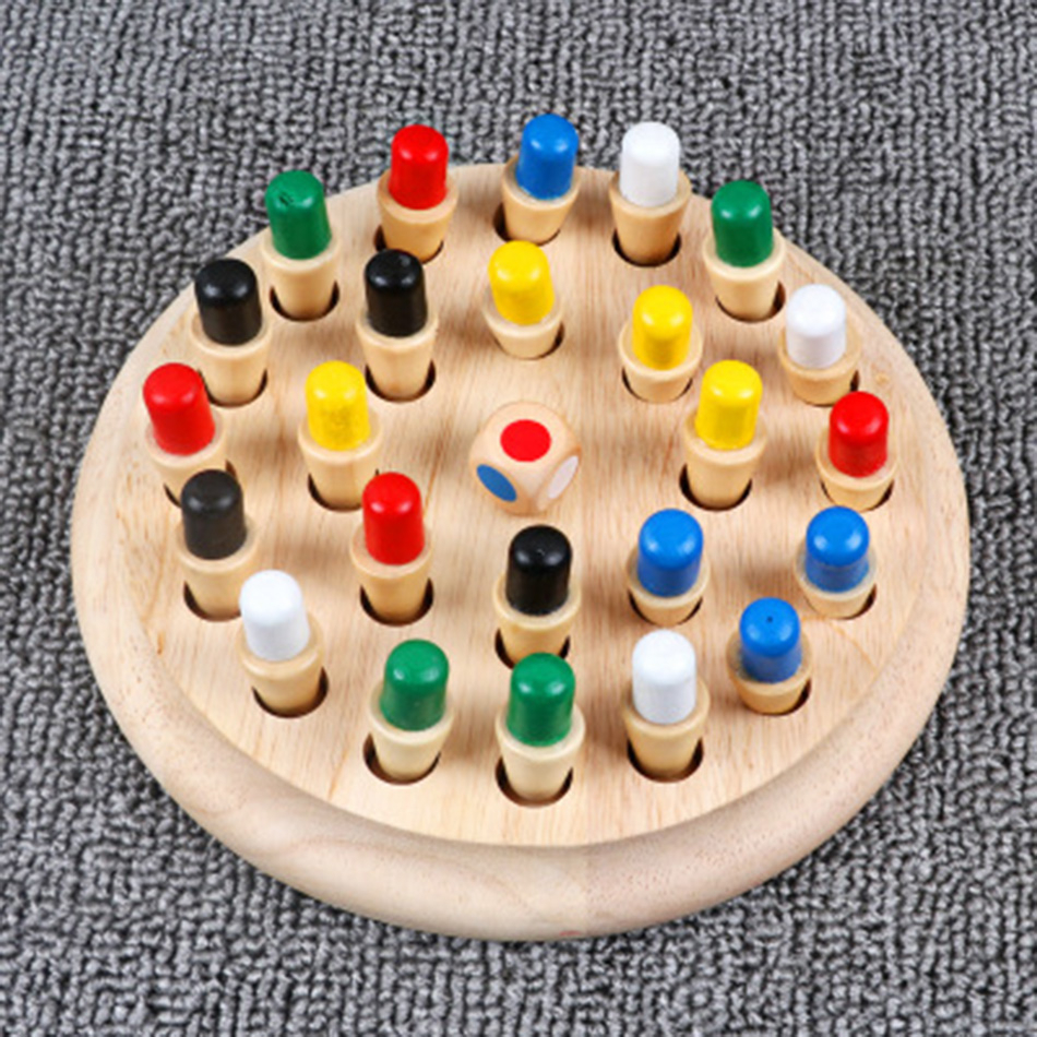 Memory Match Stick Chess Game Kids Wooden Puzzle Toy Baby Educational Color Cognitive Ability Family Party Toys For Children