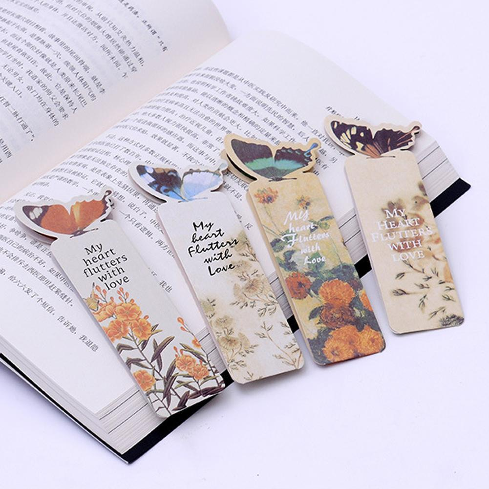 1 Pc Bookmark Butterfly Style Teacher Gift Book Mark Gift Cartoon Suitable Cute Kawaii Stationery Realistic Bookmark Gifts W1D9