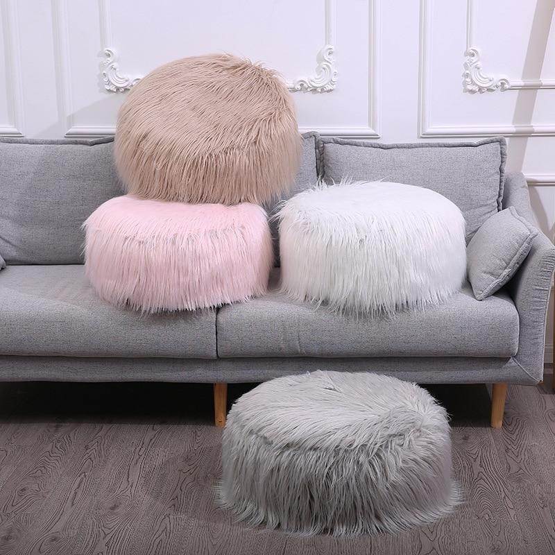 ENNROS New plush cushion stool sofa cushion detachable multi-function cushion inflatable stool