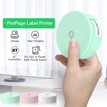 Printer Mini Sticker Label-Maker Paper-Tape Pocket Bluetooth Peripage White Portable