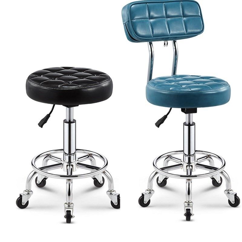 Bar Chair Bar Beauty Chair Backrest High Stool Rotating Lift Chair High Bar Stool Round Chair