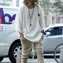 Autumn Winter Men Solid color Long Sleeve Round Neck Sweater