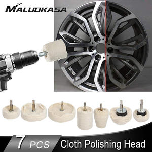 Maintenance-Tool Polishing-Wheel Detail Cleaning Car for Car-Ferry White 7PCS Cloth Waxing