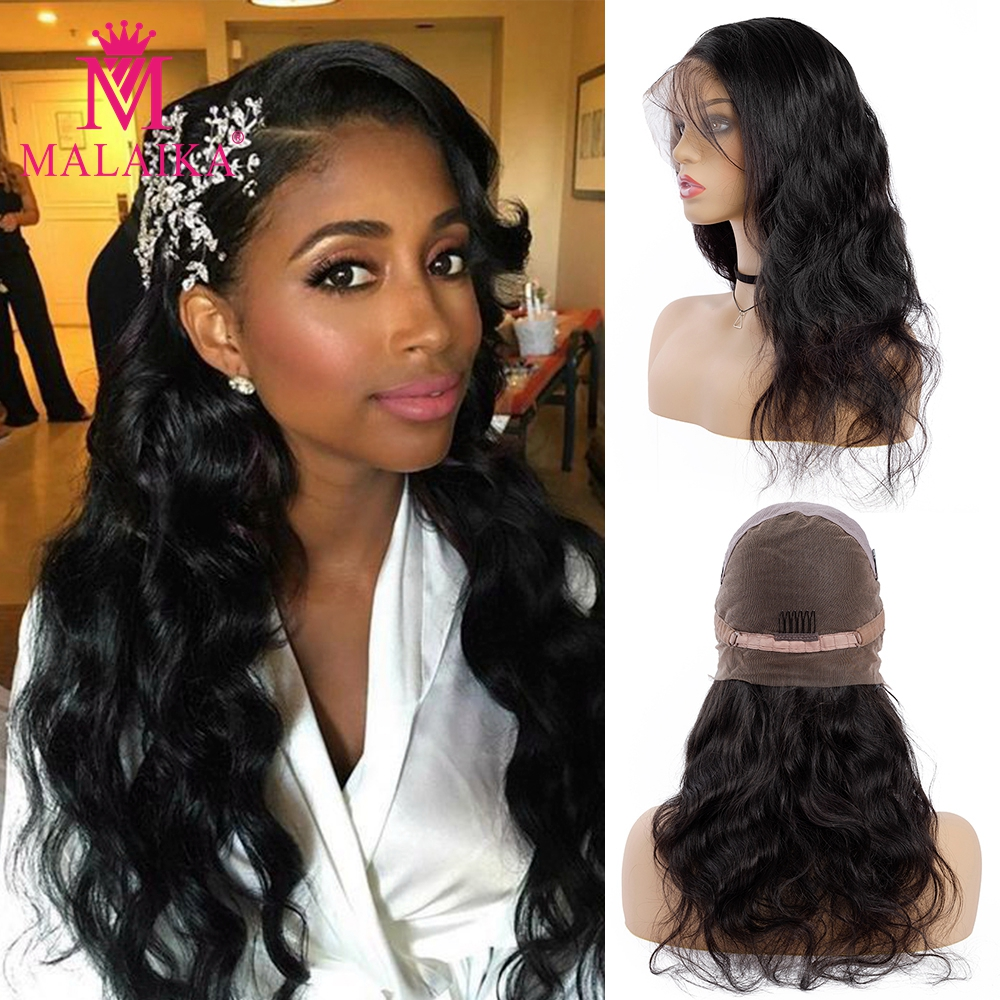 MALAIKA Full Lace Wigs With Baby Hair Body Wave Malaika Human Hair 13x4 Lace Front Human Hair Wigs