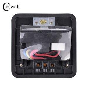 Image 5 - Coswall w całości z aluminium czarny Panel powolne Pop Up gniazdo podłogowe 16A rosja hiszpania Standard ue listwa sieciowa z portu USB do ładowania 5V 1A