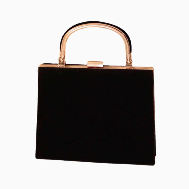 Frauen Samt Handtasche Vintage Top Griff Design Abend Tasche Hochzeit Party Braut Kupplung Tasche Geldbörse Schulter Tasche