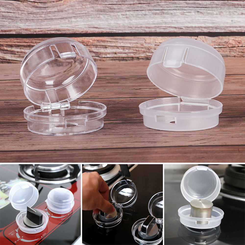 Knob-Cover Gas-Stove-Protector Kitchen Lock for Baby Kid Oven Transparent Plastic Child