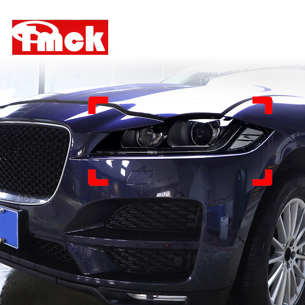 NEW For Jaguar XE X760 XF X260 F-Pace X761 E-PACE XJ X351 F-Type X152 Car Accessories Headlights TPU Smoked Black Protector Film
