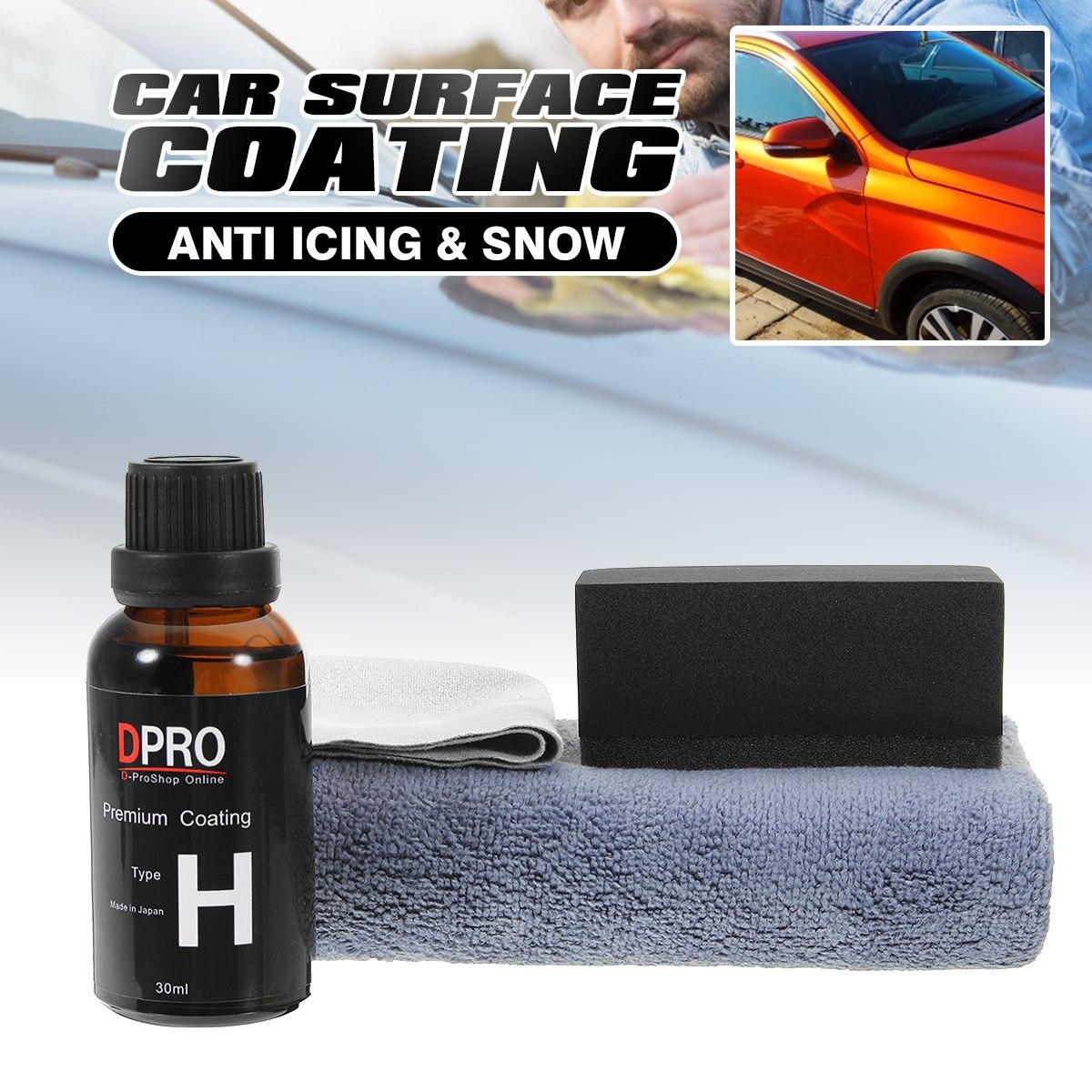 H Ceramic Car Coating Liquid Glass Waterproof For Nano Ceramic Paint Care Anti-scratch Super Hydrophobic Glass Coating Liquid
