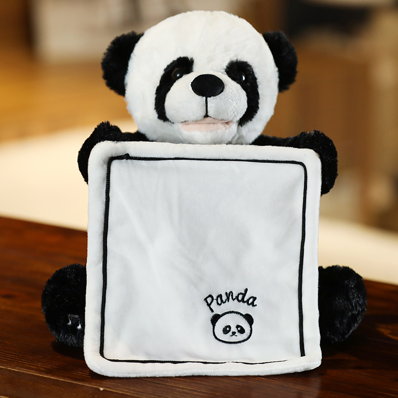 Peekaboo Panda Electronic Plush Toys Stuffed Electric Toys Sing and Play Gams with Baby Kids Toys Birthday Christmas Gift