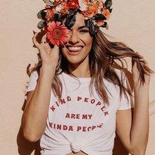 Moda Verão T Camisas do Tipo de Pessoas São O Meu Tipo de Pessoas Imprimir Mulheres T-Shirt 90s Slogan Feministe Grunge Tumblr Tees citação Tops
