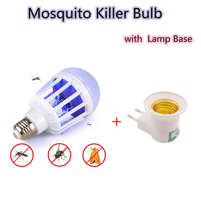 E27 AC220V 15W LED Bulb For Home Lighting With Mosquito Killer Lamp Electronics Anti Mosquito Trap Insect Killer Lamp Thermacell
