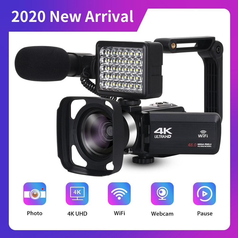 2020 Новое прибытие 4K видеокамера веб-камера для Youtube 48MP встроенный заполняющий светильник 270 градусов вращение сенсорный экран Handycam