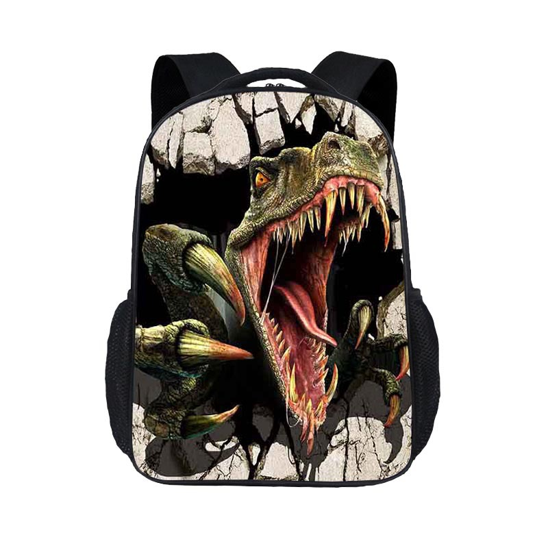 Jurassic Dinosaur School Bag Young STUDENT'S Boy Backpack Dinosaur Anime Casual Backpack A-Piece